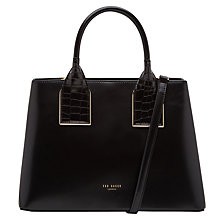 Buy Ted Baker Lolita Leather Tote Bag, Black Online at johnlewis.com