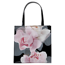 Buy Ted Baker Kelicon Rose Small Icon Shopper Bag, Black Online at johnlewis.com