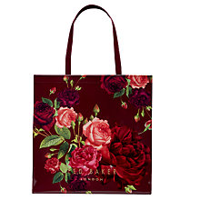 Buy Ted Baker Rosacon Rose Large Shopper Bag, Grape Online at johnlewis.com