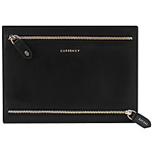 Buy Aspinal of London Leather Currency Wallet, Black Online at johnlewis.com
