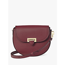 Buy Aspinal of London Leather Letterbox Mini Saddle Bag Online at johnlewis.com