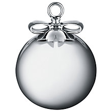 Buy Alessi 'Dressed for Christmas' Orb Christmas Decoration, Silver Online at johnlewis.com