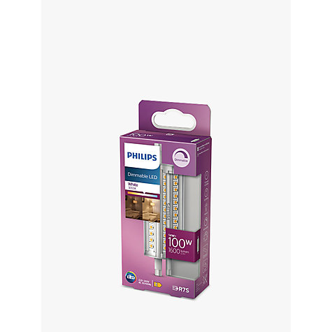 buy philips 14w r7s led dimmable tube bulb clear john lewis. Black Bedroom Furniture Sets. Home Design Ideas