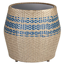 Buy John Lewis Dakara (Fusion) Havana Glass-Top Table / Stool, Brown / Blue Online at johnlewis.com