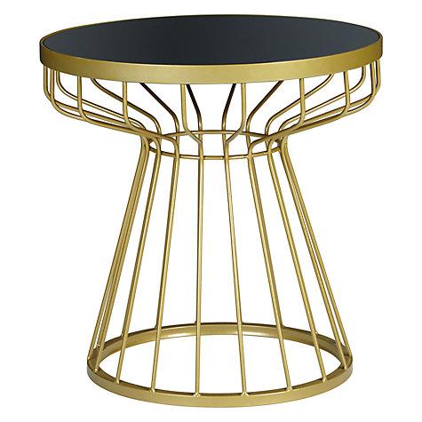 buy john lewis havana glass top side table brass navy. Black Bedroom Furniture Sets. Home Design Ideas