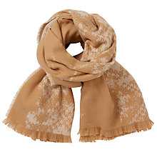Buy John Lewis Cashmink Double Faced Wrap, Camel Online at johnlewis.com