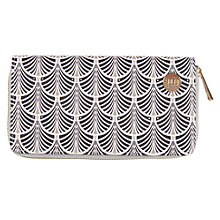 Buy Mi-Pac Gold Art Deco Zip Purse, Blush Online at johnlewis.com