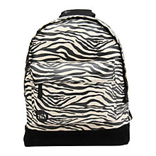 Buy Mi-Pac Zebra Canvas Backpack, Black / White Online at johnlewis.com