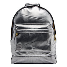 Buy Mi-Pac Gold Pebbled Mini Backpack, Silver / Black Online at johnlewis.com
