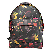 Buy Mi-Pac Gold Watercolour Floral Backpack, Black Online at johnlewis.com