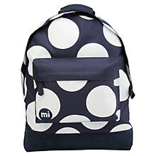 Buy Mi-Pac Polka Dot XL Backpack, Navy Online at johnlewis.com