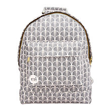 Buy Mi-Pac Gold Art Deco Backpack, Blush Online at johnlewis.com