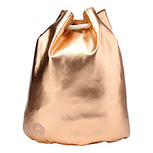 Buy Mi-Pac Gold Metallic Swing Backpack Online at johnlewis.com