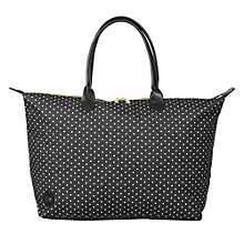 Buy Mi-Pac Denim Spot Weekender Bag, Black / White Online at johnlewis.com