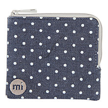 Buy Mi-Pac Denim Spot Coin Holder, Indigo / White Online at johnlewis.com