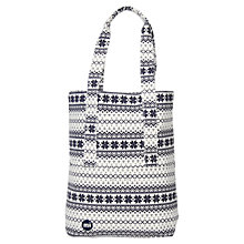 Buy Mi-Pac Fair Isle Tote Bag, Navy / White Online at johnlewis.com