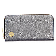 Buy Mi-Pac Gold Pebbled Zip Purse, Silver / Black Online at johnlewis.com