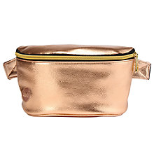 Buy Mi-Pac Gold Metallic Bumbag, Rose Gold Online at johnlewis.com