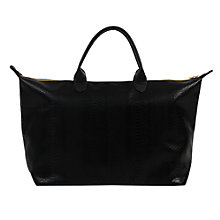 Buy Mi-Pac Gold Python Weekender Bag, Black Online at johnlewis.com