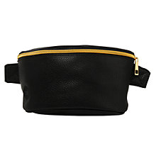 Buy Mi-Pac Gold Tumbled Bumbag, Black Online at johnlewis.com
