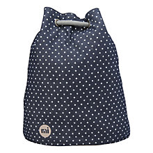 Buy Mi-Pac Denim Spot Swing Backpack, Indigo / White Online at johnlewis.com