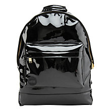 Buy Mi-Pac Gold Patent Mini Backpack, Black Online at johnlewis.com
