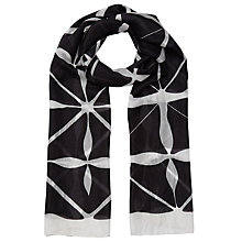 Buy East Monochrome Printed Silk Scarf, Black Online at johnlewis.com