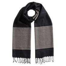 Buy East Border Stripe Scarf, Black Online at johnlewis.com