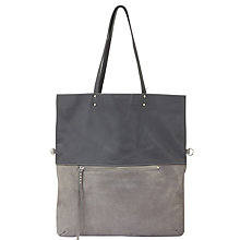 Buy Mint Velvet Lana Foldover Tote Bag, Silver Online at johnlewis.com