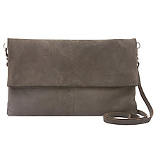 Buy Mint Velvet Smoke Lily Leather Clutch, Grey Online at johnlewis.com