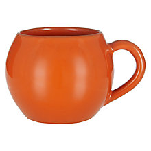 Buy John Lewis Alfresco Bowl Mug, Orange Online at johnlewis.com