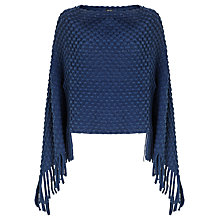 Buy Gerry Weber Textured Poncho, Cobalt Online at johnlewis.com