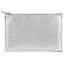 Buy Aspinal of London Essential Large Pouch, Silver / Black Online at johnlewis.com