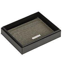 Buy BOSS Signature Card Holder, Grey/Blue Online at johnlewis.com