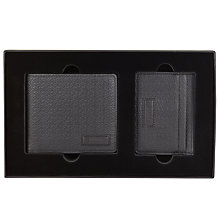 Buy BOSS Textured Leather Wallet and Credit Card Holder Gift Set, Black Online at johnlewis.com