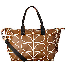 Buy Orla Kiely Giant Linear Stem Holdall, Camel Online at johnlewis.com