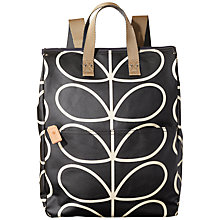 Buy Orla Kiely Linear Stem Backpack, Liqorice Online at johnlewis.com
