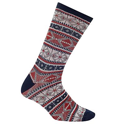 Yamato Snow Socks, One Size, Grey/Navy/Red