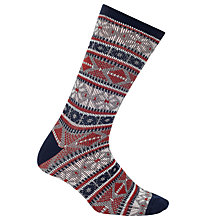 Buy John Lewis Yamato Snow Socks, One Size, Grey/Navy/Red Online at johnlewis.com
