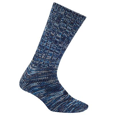Yamato Stripe Socks, One Size, Blue