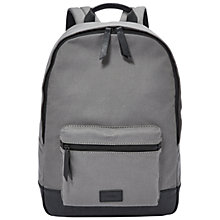 Buy Fossil Estate Canvas Backpack Online at johnlewis.com