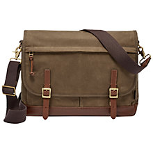 Buy Fossil Defender Canvas Messenger Bag Online at johnlewis.com