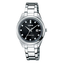 Buy Lorus Women's Crystal Date Bracelet Strap Watch Online at johnlewis.com
