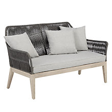 Buy John Lewis Leia 2 Seater Sofa, FSC-Certified (Acacia), Grey Online at johnlewis.com