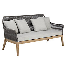 Buy John Lewis Leia 3 Seater Sofa, FSC-Certified (Acacia), Grey Online at johnlewis.com