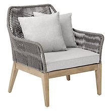 Buy John Lewis Leia Lounging Armchair, FSC-Certified (Acacia), Grey Online at johnlewis.com