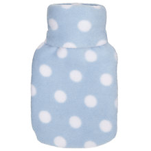 Buy John Lewis Mini Spot Fleece Hot Water Bottle Online at johnlewis.com