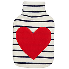 Buy John Lewis Heart Stripe Hot Water Bottle Online at johnlewis.com
