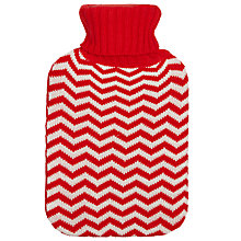 Buy John Lewis Zig Zag Knit Hot Water Bottle Online at johnlewis.com