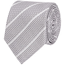 Buy Reiss Weston Textured Stripe Silk Tie Online at johnlewis.com